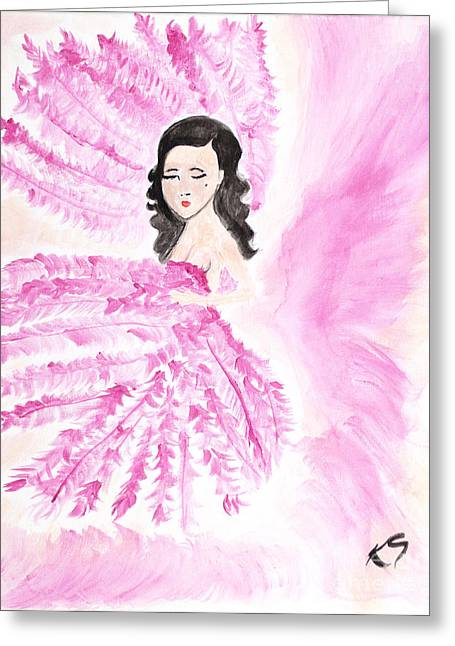 Burlesque Greeting Card by Katy  Scott