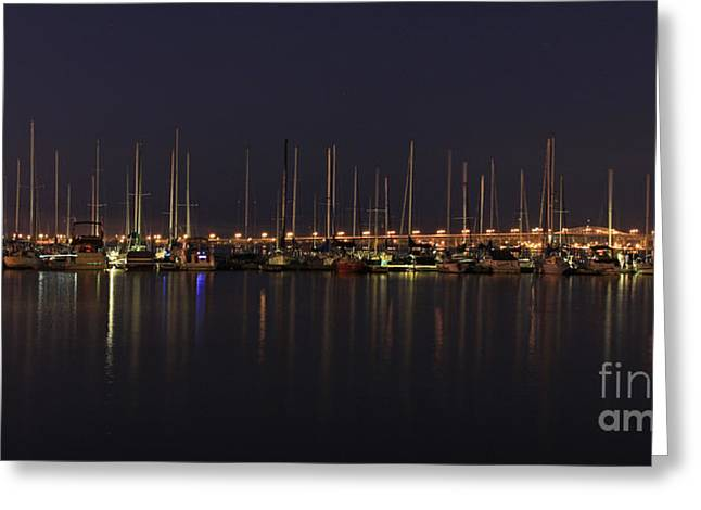 Burlington Lift Bridge At Twilight Greeting Card by Inspired Nature Photography Fine Art Photography