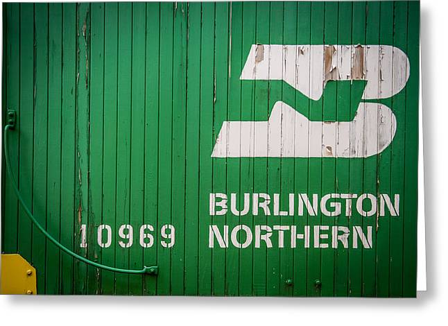 Classic American Railroad Greeting Cards - Burlington Northern Logo Greeting Card by Paul Freidlund