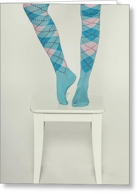 Anonymous Greeting Cards - Burlington Socks Greeting Card by Joana Kruse