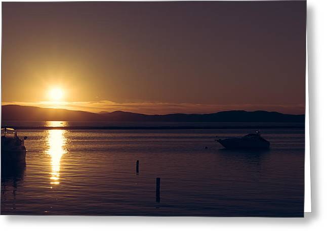 Champlain Greeting Cards - Burlington sunset Greeting Card by Chris Fletcher