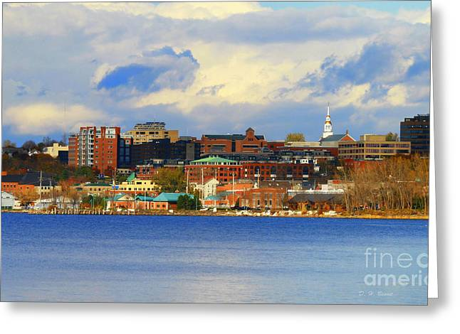 Deborah Benoit Greeting Cards - Burlington Vermont Lakefront Greeting Card by Deborah Benoit
