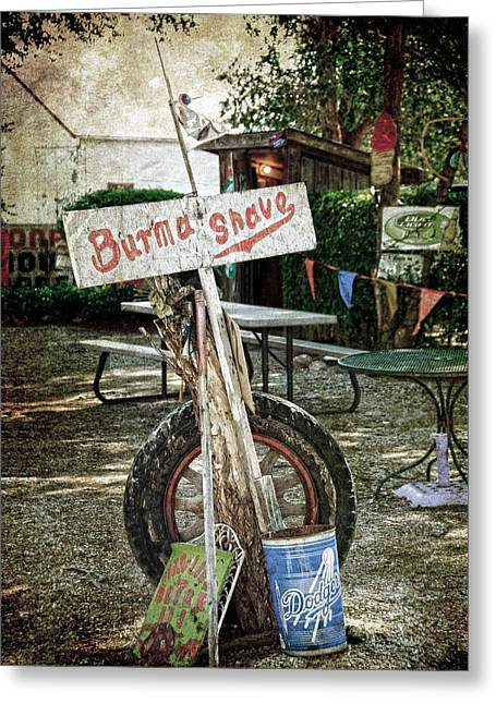 Shed Photographs Greeting Cards - Burma Shave sign Greeting Card by RicardMN Photography
