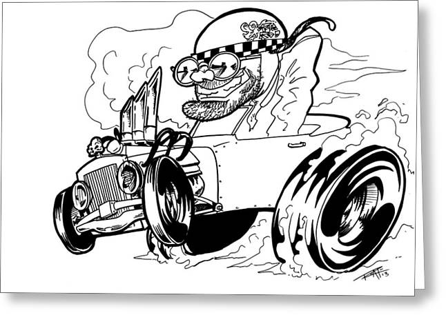 I Roate This Drawings Greeting Cards - Burn Out Greeting Card by Big Mike Roate