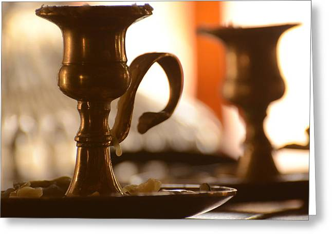 Candle Stand Photographs Greeting Cards - Burn Out Greeting Card by Deann Brice