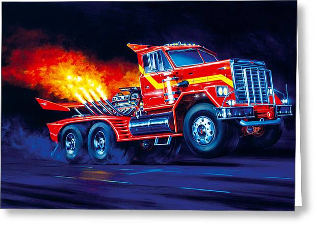 Acceleration Greeting Cards - Burn Out Greeting Card by Garry Walton
