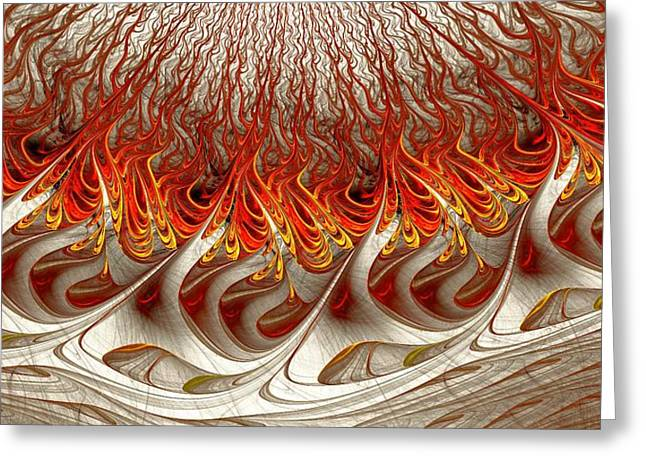Abstract Digital Mixed Media Greeting Cards - Burning Greeting Card by Anastasiya Malakhova