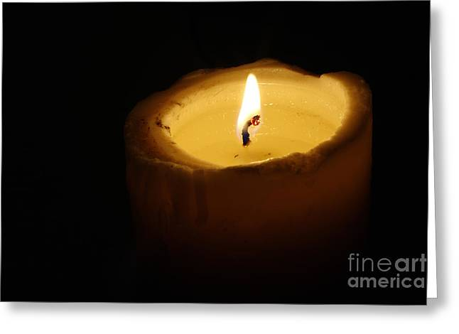 Reminiscent Greeting Cards - Burning Candle Greeting Card by Michal Boubin