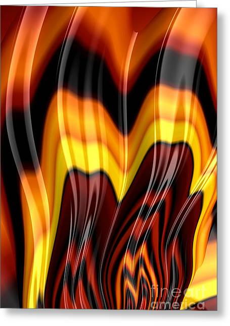 Flame Greeting Cards - Burning Greeting Card by John Edwards