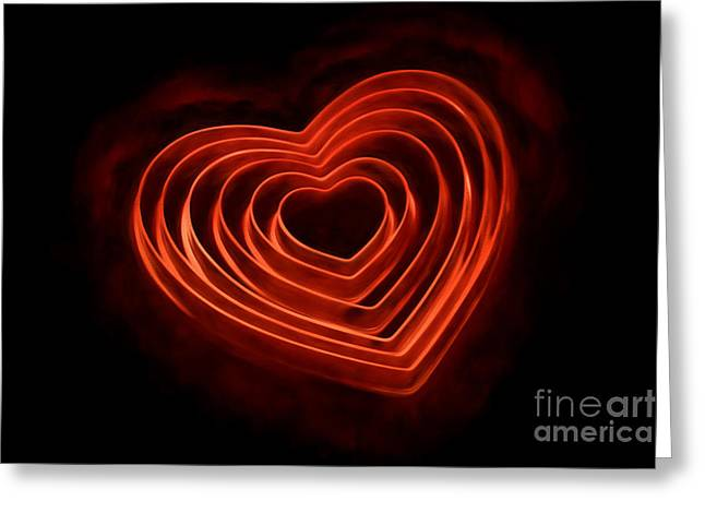 Burning Love Greeting Cards - Burning Love Greeting Card by Darren Fisher