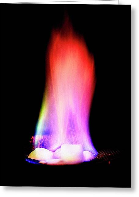 Burning Methane Hydrate Greeting Card by Us Geological Survey