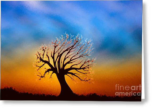 Pages Of Life Digital Art Greeting Cards - Burning One Greeting Card by Jennifer Page
