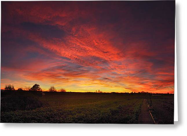 Himmel Greeting Cards - Burning skies Greeting Card by Philippe Meisburger