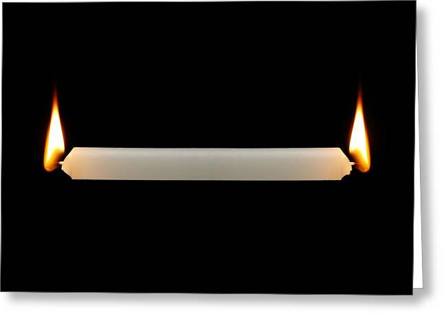 Overwork Greeting Cards - Burning the candle at both ends Greeting Card by Science Photo Library