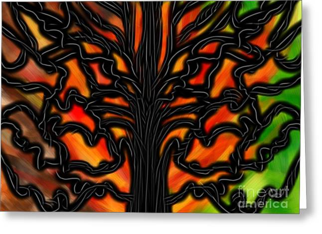 Renewing Digital Art Greeting Cards - Burning Umber Greeting Card by Christine Fournier