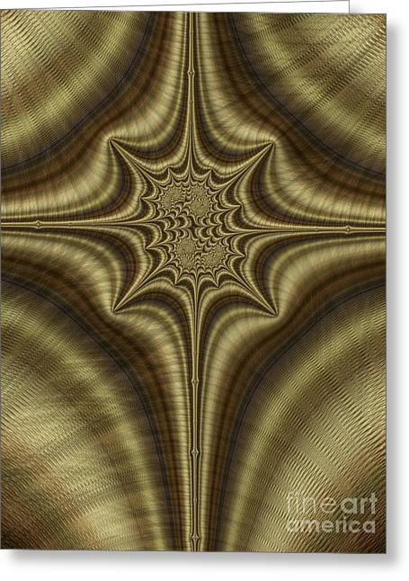 Bronze Greeting Cards - Burnished Bronze Abstract Greeting Card by John Edwards