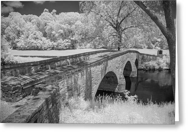 Civil War Site Greeting Cards - Burnside Bridge 0239 Greeting Card by Guy Whiteley
