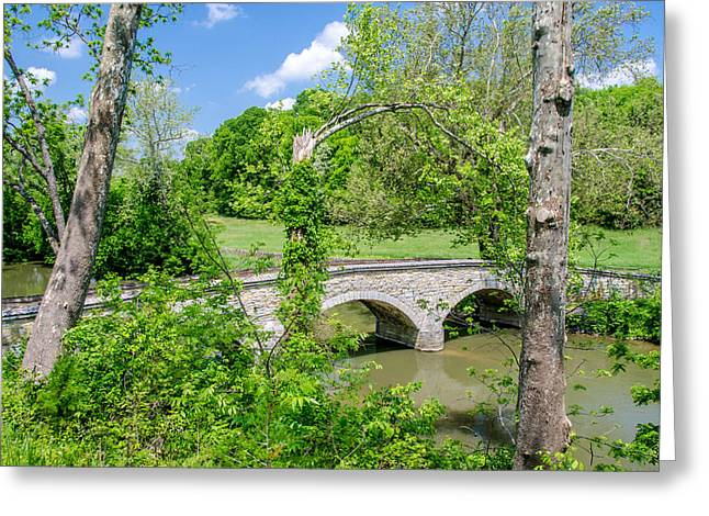 Battlefield Site Greeting Cards - Burnside Bridge 2879 Greeting Card by Guy Whiteley
