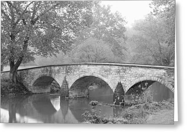 Civil War Battle Site Greeting Cards - Burnside Bridge Antietam National Greeting Card by Panoramic Images