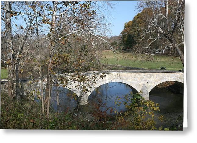 Burnside Bridge Greeting Card by Jerry Tompkins