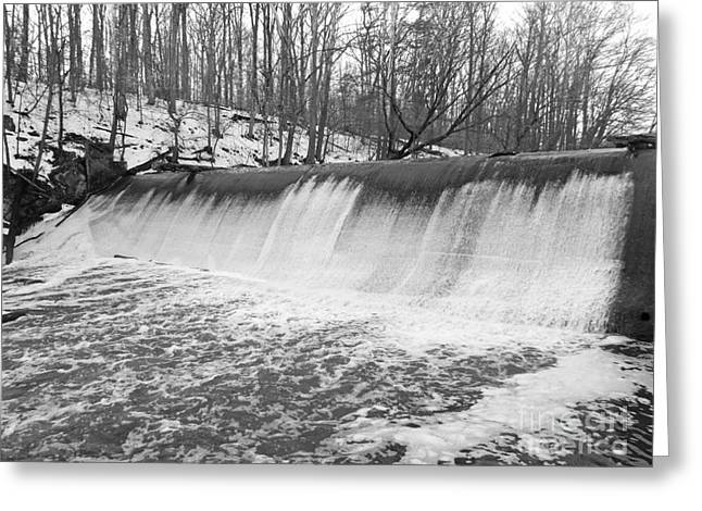 Dam Framed Prints Greeting Cards - Burnt Mills Dam - Silver Spring MD Greeting Card by Emmy Marie Vickers