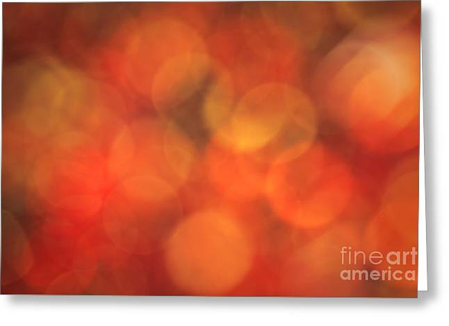 Warm Colours Abstract Greeting Cards - Burnt Sugar Greeting Card by Jan Bickerton