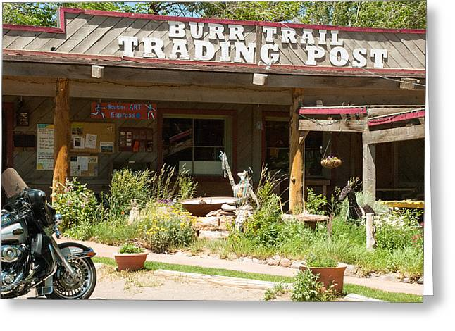 Geobob Greeting Cards - Burr Trail Trading Post in Boulder Utah Greeting Card by Robert Ford