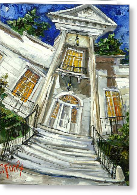Huntsville Greeting Cards - Burritt Museum Greeting Card by Carole Foret