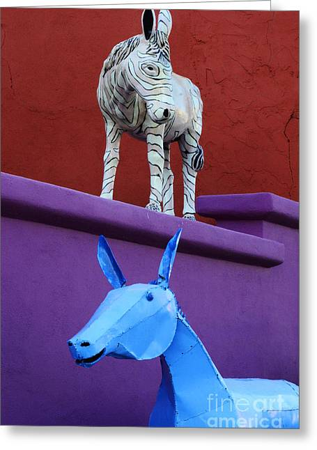 Burros Greeting Cards - Burro Serenade Carrizozo New Mexico 2 Greeting Card by Bob Christopher