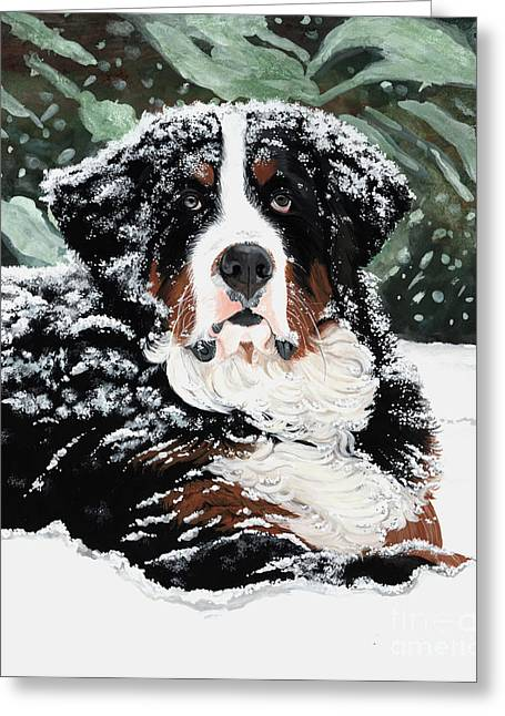 Mound Paintings Greeting Cards - Burrr Greeting Card by Liane Weyers
