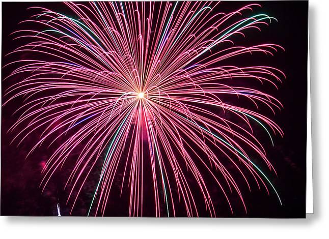 Best Sellers -  - Pyrotechnics Greeting Cards - 4th of July Fireworks 24 Greeting Card by Howard Tenke