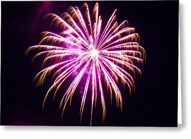 Pyrotechnics Greeting Cards - 4th of July Fireworks 25 Greeting Card by Howard Tenke