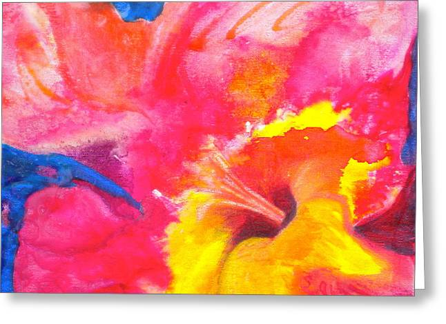 Watery Greeting Cards - Burst 2 Greeting Card by Debi Starr