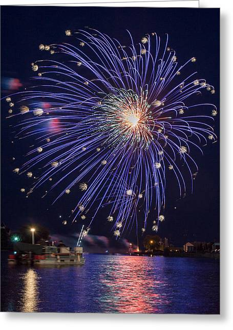 4th July Photographs Greeting Cards - Burst of Blue Greeting Card by Bill Pevlor