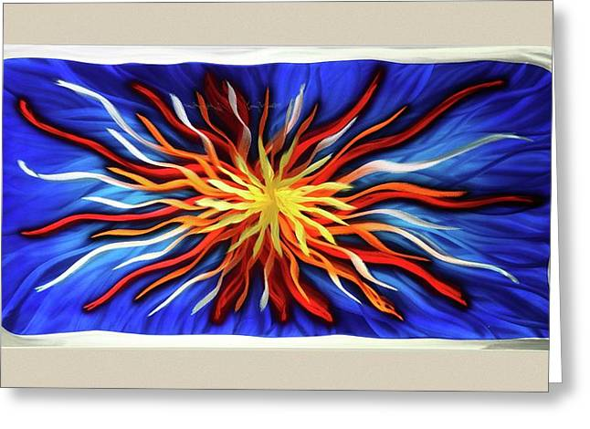 Aluminum Sculptures Greeting Cards - Burst Of Color Greeting Card by Rick Roth