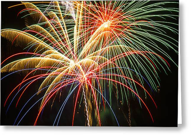Bursting in air Greeting Card by Garry Gay