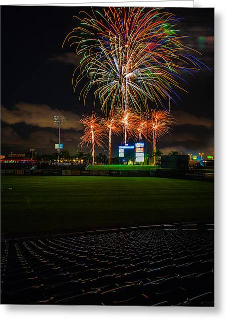 Brighthouse Field Greeting Cards - Bursting in Air Greeting Card by Jeff Donald
