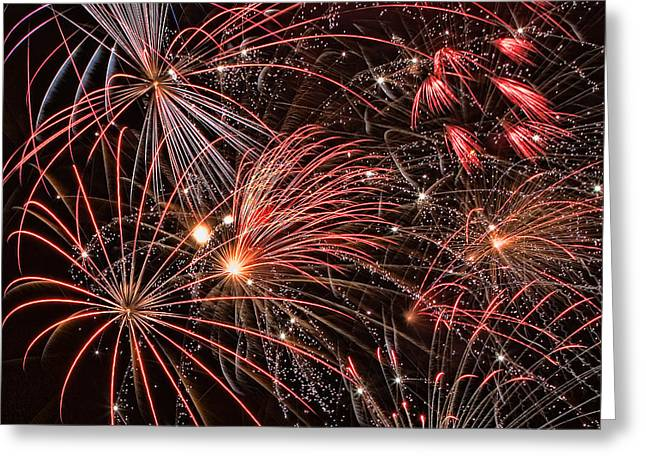 4th July Greeting Cards - Bursting Greeting Card by Peter Tellone