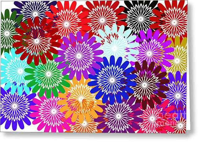 Digital Installation Art Greeting Cards - Bursts Of Happiness Greeting Card by Tina M Wenger