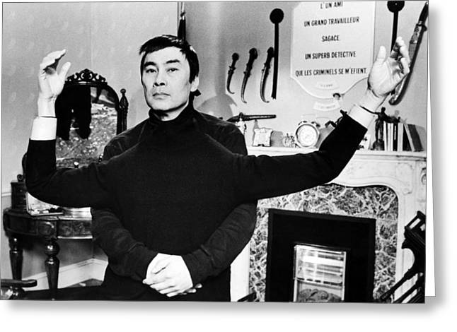 Burt Kwouk In Revenge Of The Pink Panther  Greeting Card by Silver Screen