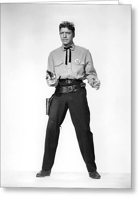 Corral Greeting Cards - Burt Lancaster in Gunfight at the O.K. Corral  Greeting Card by Silver Screen