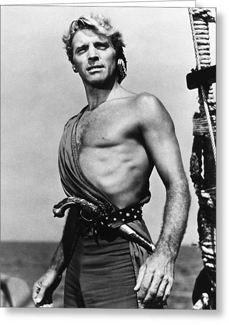 Lancasters Greeting Cards - Burt Lancaster in The Crimson Pirate Greeting Card by Silver Screen