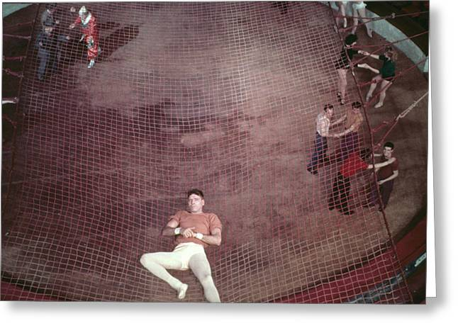 Burt Lancaster In Trapeze  Greeting Card by Silver Screen