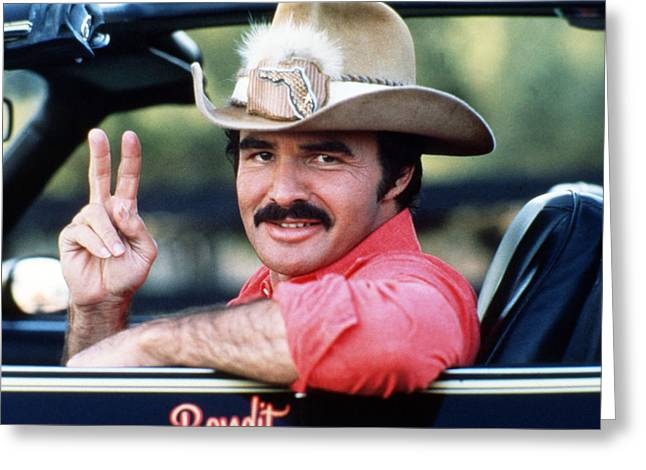 Burt Reynolds Greeting Cards - Burt Reynolds in Smokey and the Bandit  Greeting Card by Silver Screen