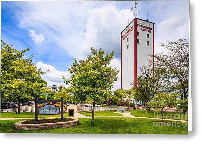 Burton Greeting Cards - Burton Breidert Village Green in Frankfort Illinois Greeting Card by Paul Velgos