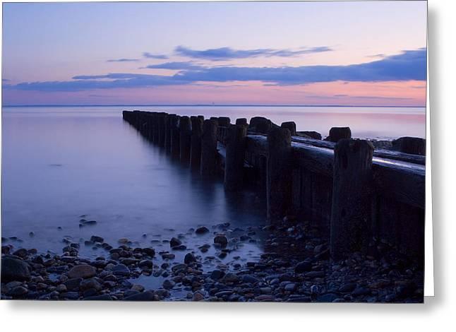 Westport Ct Greeting Cards - Burying Hill Beach Pier II Greeting Card by Stephanie McDowell