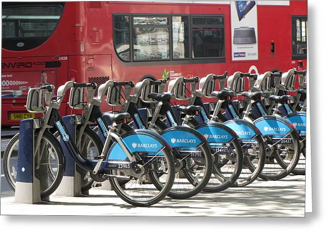 Double Bicycle Greeting Cards - Bus or Bike Greeting Card by Gary Smith