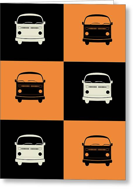Humor Greeting Cards - Bus Poster Greeting Card by Naxart Studio