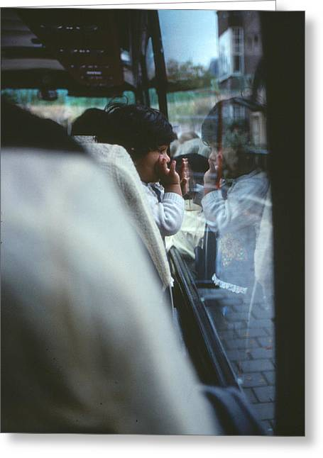 Bus Ride Reflection Greeting Card by Roy Williams