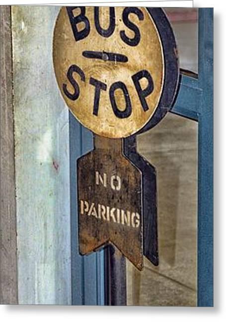 Bus Stop Greeting Cards - Bus Stop Greeting Card by Arnie Goldstein